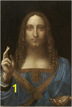 Leonardo da Vinci Salvator Mundi c 1500 oil on walnut 45 4 Salvator Mundi Artist Leonardo da Vinci