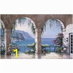 Environmental Graphics Mediterranean Arch Wall Mural at Lowe s These elegant arches framing a view of the turquoise blue Mediterranean will transform a