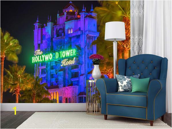 Tower of Terror at Hollywood Studios Disney Wall Mural