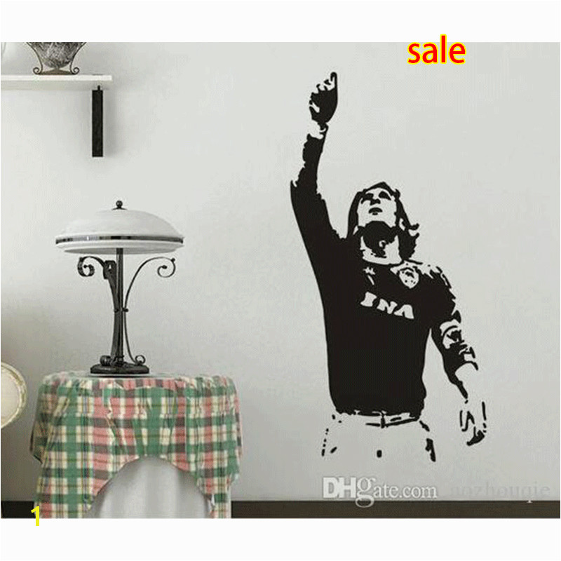 bathroom wall mural decals Promo Codes Wholesale 615mm 1180mm New Wall sticker TOTTI A S