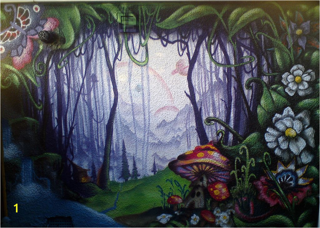 Wall Murals enchanted forest
