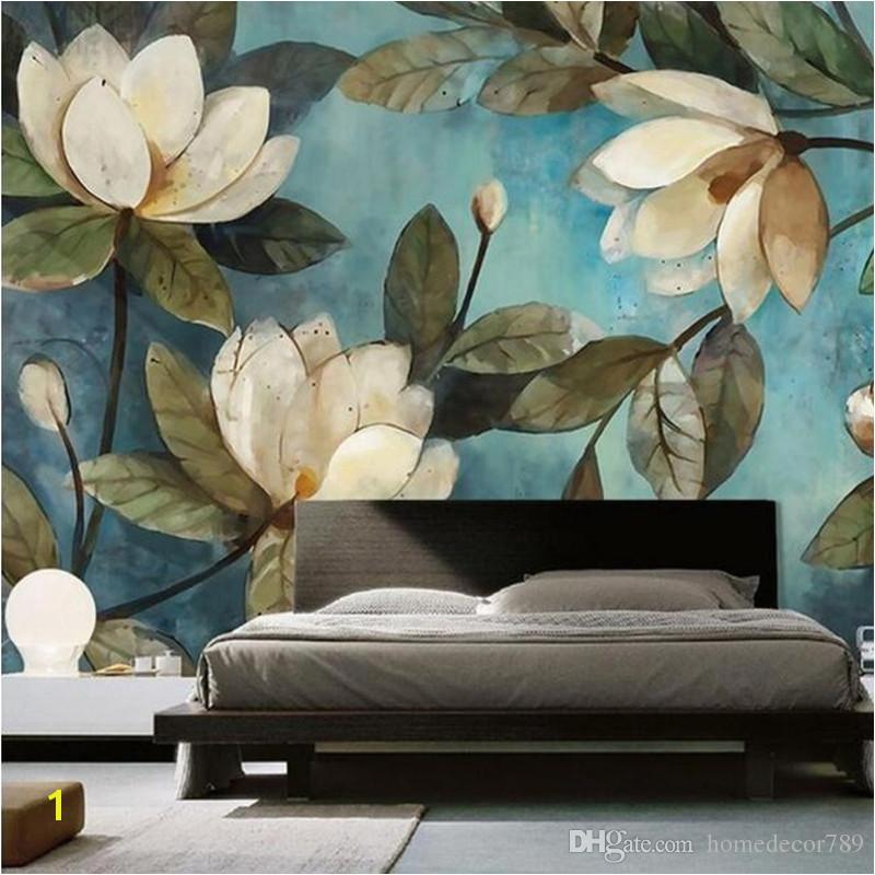 Custom Mural Wallpaper European Painting Flowers Retro Livingroom TV Backdrop Wallpaper Entrance Bedroom Non Woven Wall Covering Free Animated Desktop