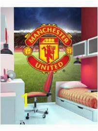 Manchester United Wall Mural 2 32m x 1 58m MUFC ManUtdMural Decor Football