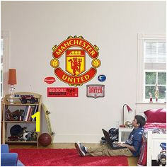 Manchester United Wall Decal Home Bedroom Kids Bedroom Bedroom Decor Kids Rooms