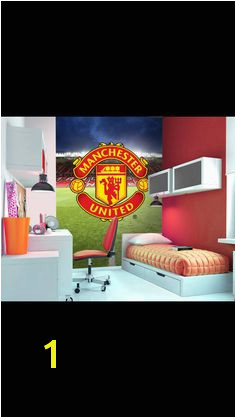 Manchester United bespoke wallpaper Football Bedroom Murals For Kids Girls Bedroom Boys Bedroom