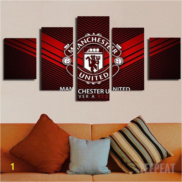Manchester United Logo 5pc Canvas Painting prints printable painting canvas empireprints teepeat