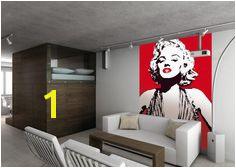 Marilyn Monroe Wallpaper Mural 1 Wall Easy Hang Andy Warhol Style X