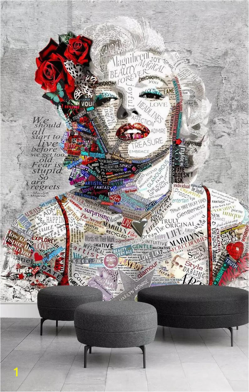 Marilyn Monroe Mural Wallpaper 3d Marilyn Monroe View Wallpaper Mural Wall Print