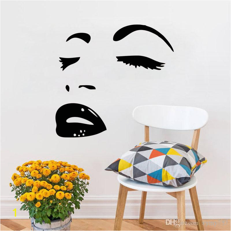 2017 Hot Sale Hot y Marilyn Monroe Decal Stickers Bedroom Living Room Decorative Murals Vinyl Art DIY Stickers Walls Stickers Your Wall From