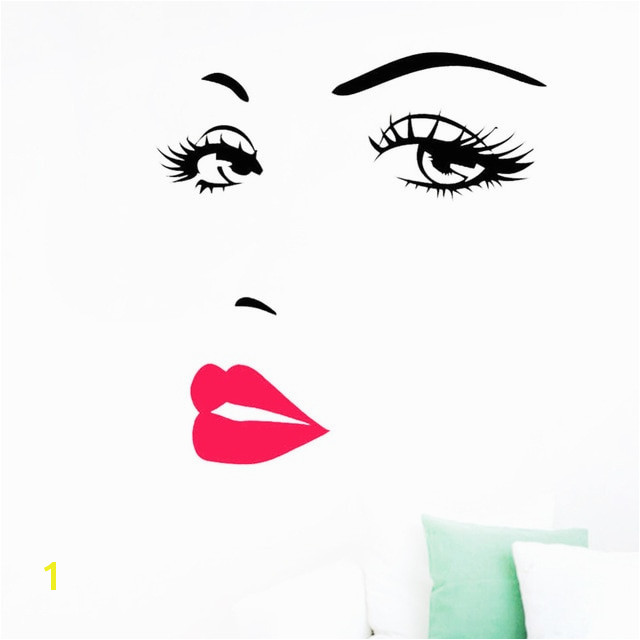 Hohe qualität Marilyn Monroe Gesicht Augen y Lippen Kunst Vinyl Wandaufkleber Aufkleber Wandbild Wohnkultur