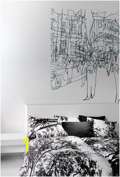 Marimekko Hetkia Wall Mural Black Grey White