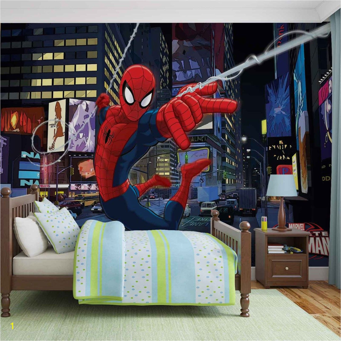 Wallpaper wall mural blue Spider man