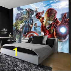 Giant size wallpaper mural for boy s room Marvel paper wallpaper ideas Express and worldwide