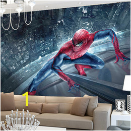 Marvel Spiderman Kids Boys Children wallpaper Custom 3D Wallpaper Superhero Wall Murals Art interior Bedroom Nursery School Room decor