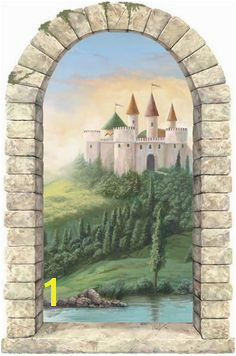 Interior Place Castle Window Wall Mural $44 99