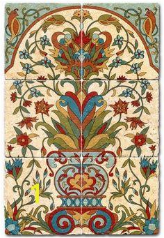 Bella Flora Tile Mural Tile Murals Tile Art Wall Tiles Mosaic Tiles