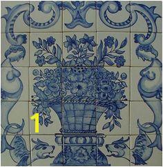 Flower Pot Ceramic Tile BacksplashTile