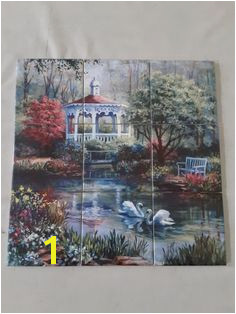 Swan lake tile mural on 10 8cm tiles at £81