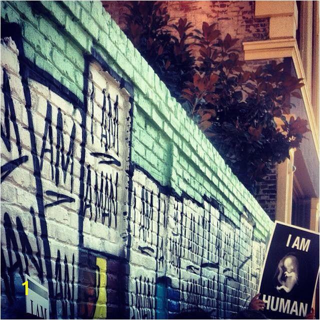 I am a man mural front street Memphis