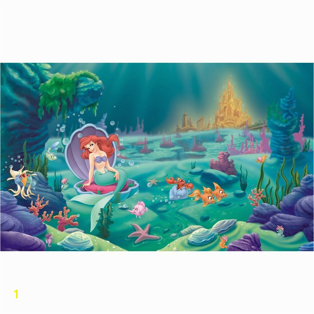 Mermaid Mural Ideas Disney S Ariel the Little Mermaid Xl Pre Pasted Surestrip Wall Mural