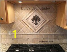 Linda Paul Medallion Collection Small Mosaic Tile and Metal Backsplash Accents