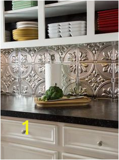 How to Install a Tin Tile Backsplash