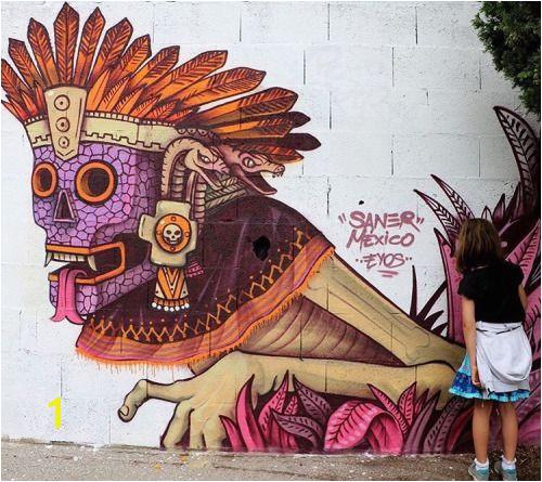 Hispanic Art Aztec Art Urban Street Art Mural Art Graffiti Murals