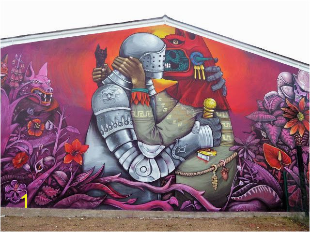 "Saner s new mural in Fleury Les Aubrais France ""The Conquest The New World By Spanish Conquistadors"""