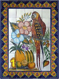 Mexican Mural Tiles 1380 Best Tile Murals Images In 2019