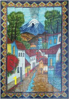 tile mural 13 Add to your kitchen decor a backslash tilemural