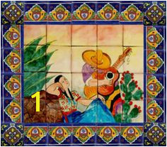"""Kitchen Tile Mural """"Mexican"""" Mexican Tile Kitchen Mexican Tiles Mexican Kitchens"""