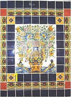Talavera tile mural Tile Murals Spanish Revival Lanai Mexican Tiles Adobe