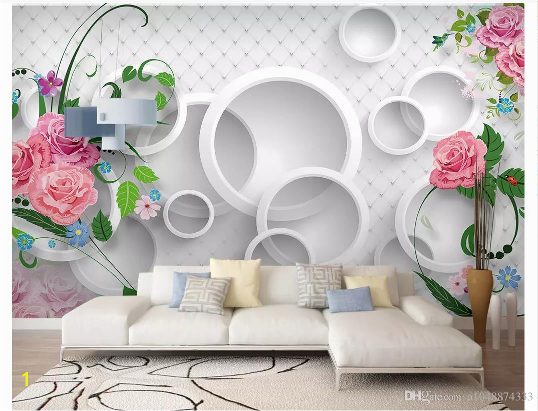 3D Wall Murals Wallpaper Custom Picture Mural Wall Paper Modern Warm Romantic 3D Rose TV Background Wallpaper For Walls 3d Home Decor High Res Wallpapers