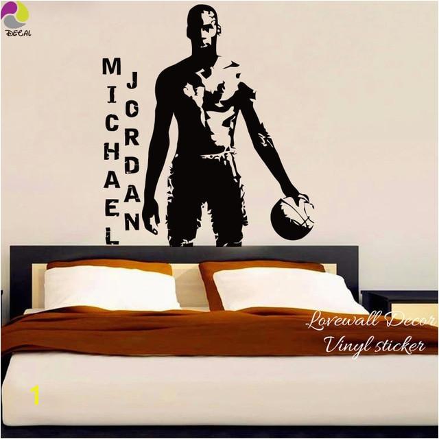 MICHAEL JORDAN Basketball Spieler Wand Aufkleber NBA Super Star Sport Wandtattoo Kinderzimmer Boy Zimmer Schlafzimmer Vinyl