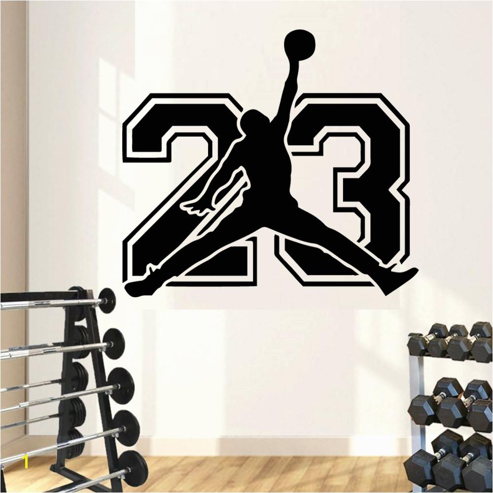 Removvel 23 Michael Jordan Adesivo De Parede Pvc Adesivos Arte Da Parede Moda Moderna Para Sala