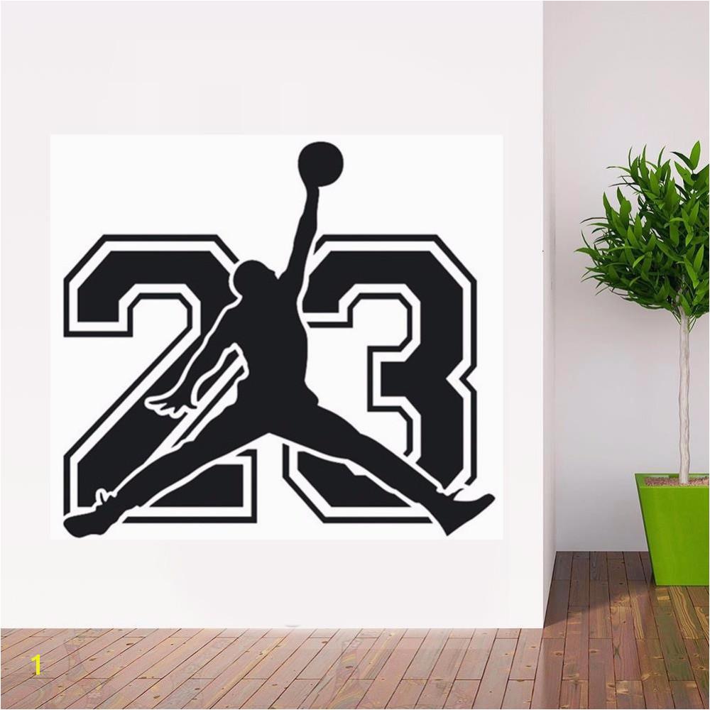 POOMOO Michael Jordan Basketball Player Stickers DECORATIVE VINYL To walls Decor for Kids rooms Wallpaper New Arrivals Decals