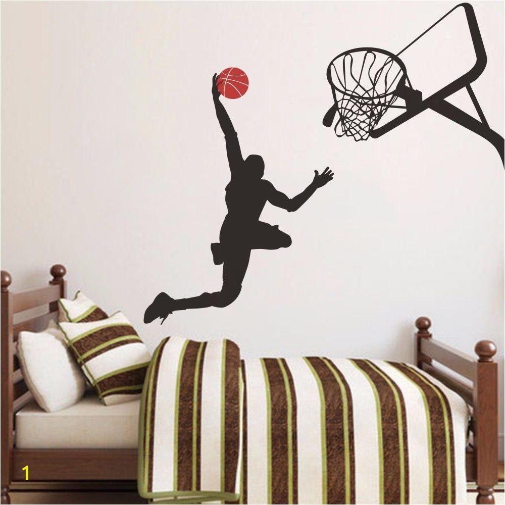 Slam Dunk Wall Decal Michael Jordan Basketball Vinyl Boy Play Room Decor 52inx48in