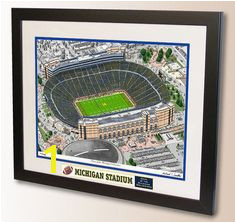 Michigan Stadium Art home of the University of Michigan Wolverines