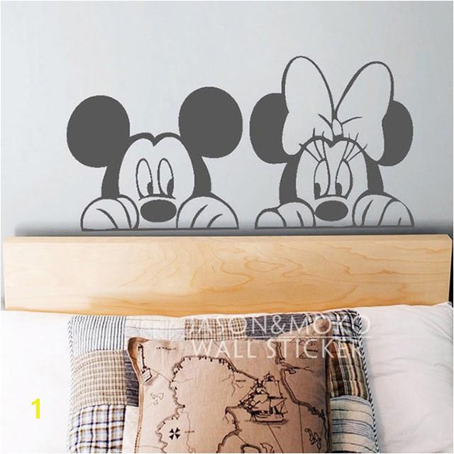Cartoon Mickey Minnie Maus Tier Vinyl Wandtattoo Aufkleber Wandbild Tapete Niedlich Baby Room Decor Schlafzimmer Home