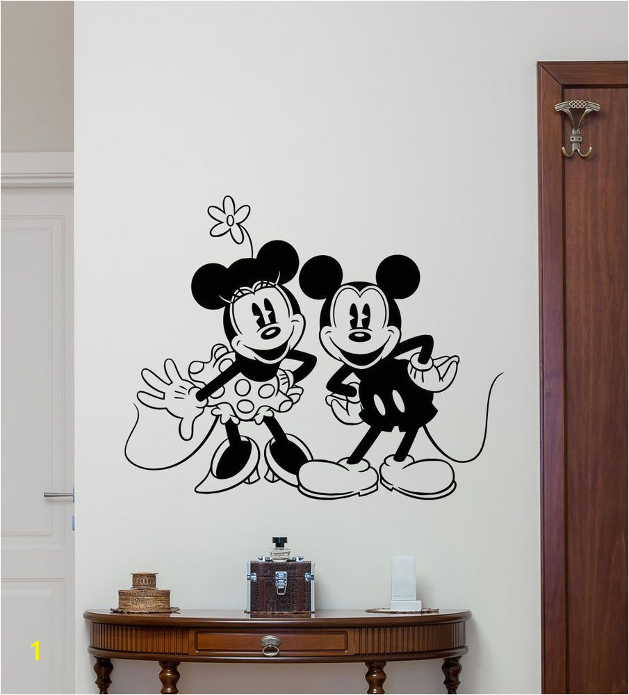Minnie Mickey Mouse Wall Decal Disney Vinyl Sticker Kids Decor Poster Art 103hor
