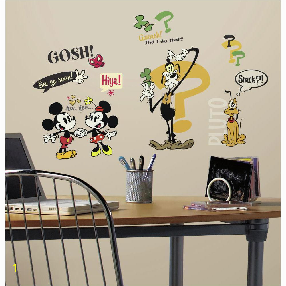 Mickey Minnie Mouse Wall Murals Rmk2327scs Mickey & Friends Mickey Mouse Cartoons Wall Stickers