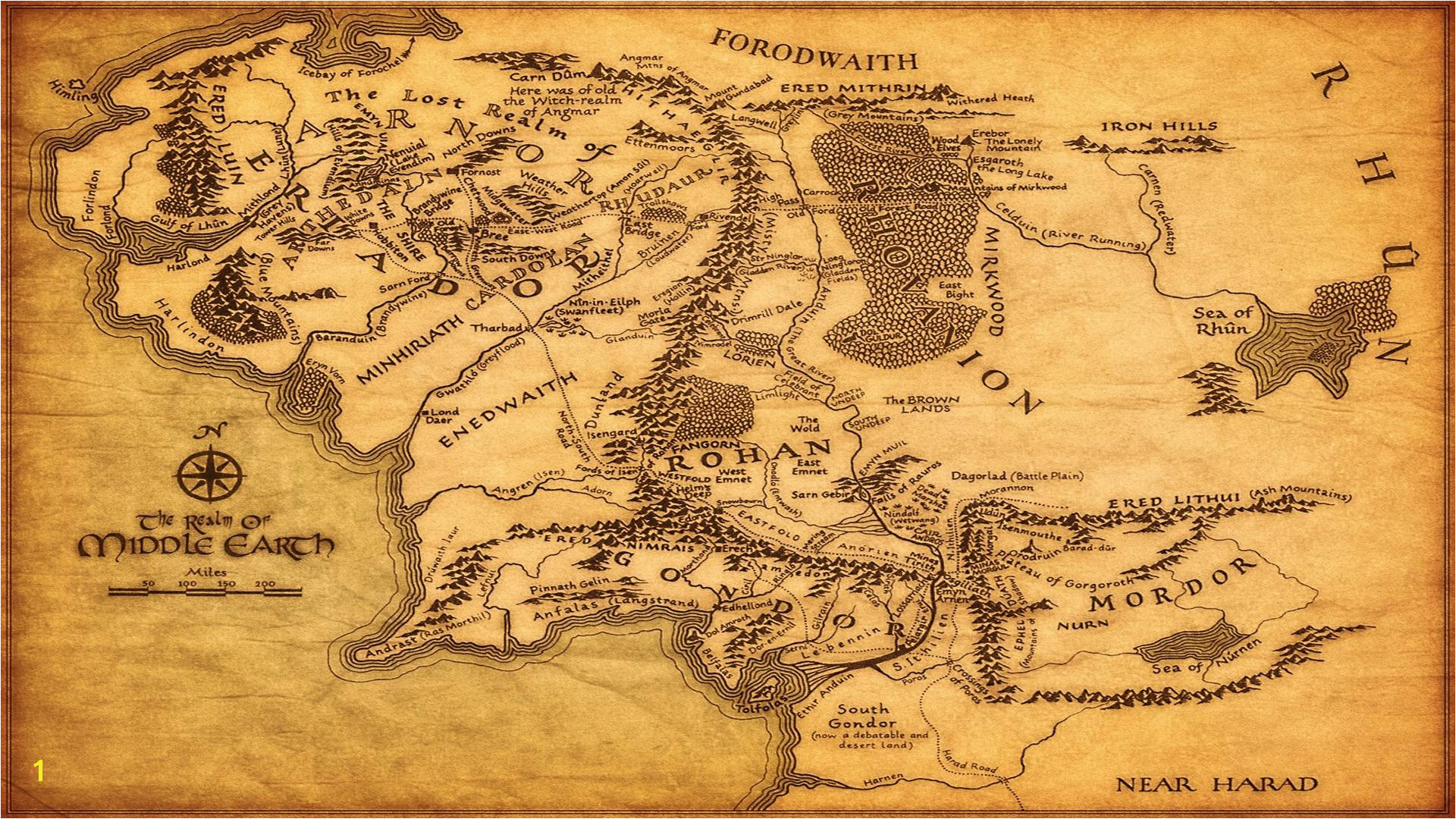 Middle Earth Map Hd Wallpapers PX Wallpaper