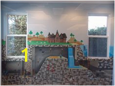 The perfect mural for a Minecraft addict Painting Minecraft Minecraft Room Mural Ideas