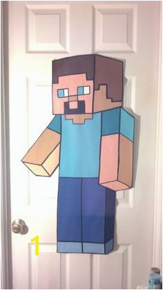 Items similar to Handpainted HUGE MINECRAFT STEVE Original Style Hand Painted Painting Wallpaper Sticker Decal Decor Wall Art Mural on Etsy