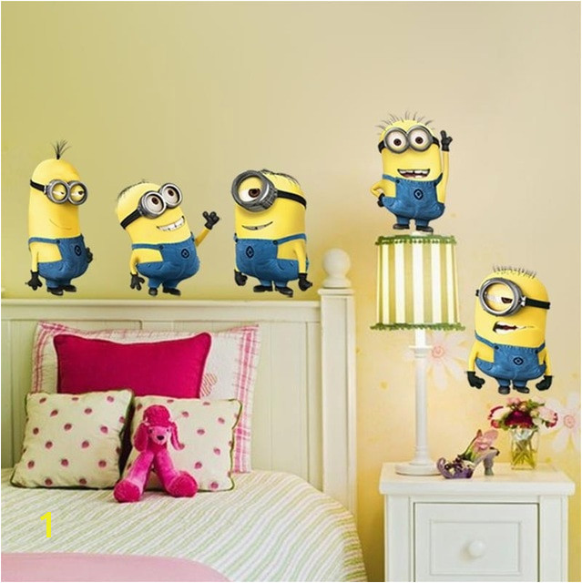 cute small man wall stickers for kids room home decorations 1404 diy pvc cartoon decals children t 3d mural arts posters 3 0