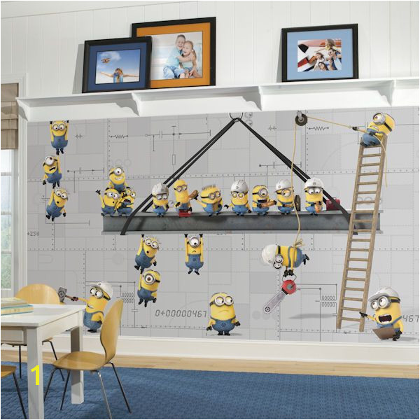 Minions at Work XL Chair Rail Prepasted Mural Wall Sticker Outlet