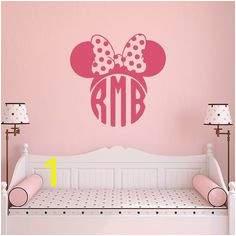 Minnie Mouse Wall Decals For Girls Monogram Decal Custom Decal Stickers Monogram Letters Wall Decal Minnie Mouse Baby Wall Decor 129
