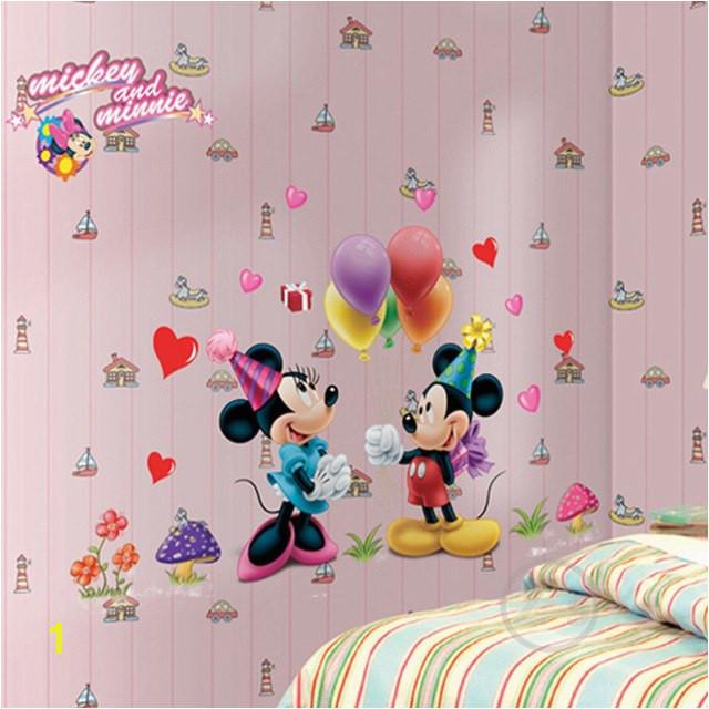 Zs Sticker Mickey Mouse Minnie Mouse Duvar Sticker ev dekor Karikatür Duvar ‡Ä±kartma ‡ocuk Odası ‡Ä±kartması