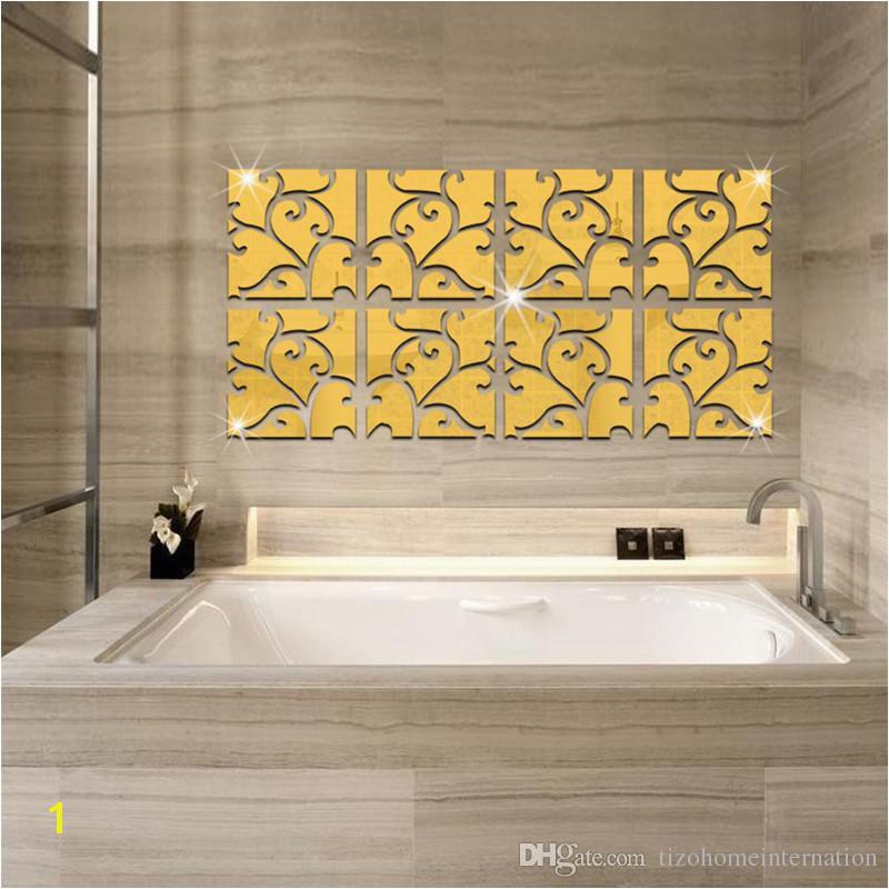 Mirror Murals Walls 2a 2bmirror Wall Sticker Acrylic Modern Home Decoration Wall Decor