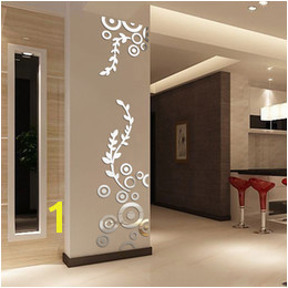 3d Wall Murals Australia Creative Circle Ring Acrylic Crystal Mirror Wall Stickers DIY 3D Decal